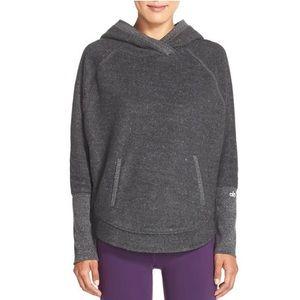 NEW Alo Gray Yoga Cabin Hooded Pullover Sweatshirt